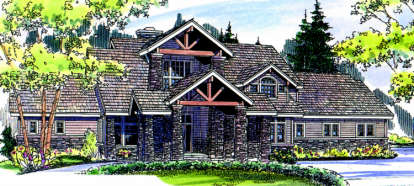 3 Bed, 3 Bath, 4021 Square Foot House Plan - #035-00027