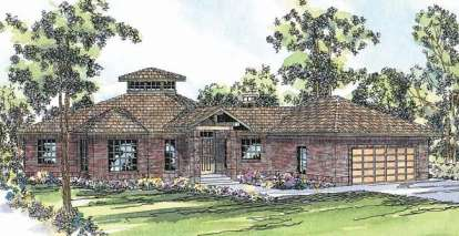 3 Bed, 2 Bath, 2417 Square Foot House Plan - #035-00028