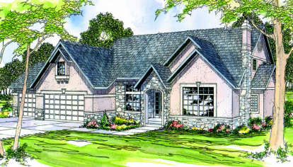 3 Bed, 2 Bath, 3040 Square Foot House Plan - #035-00030