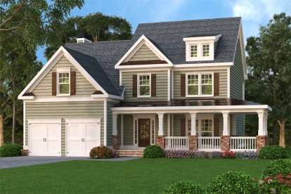 3 Bed, 2 Bath, 2489 Square Foot House Plan - #009-00051