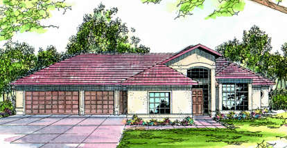 3 Bed, 2 Bath, 2069 Square Foot House Plan - #035-00032