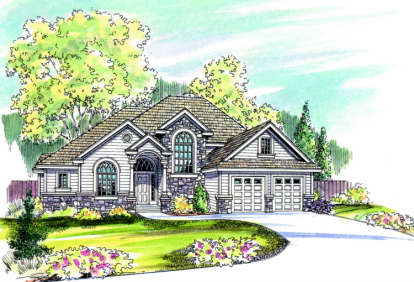 3 Bed, 2 Bath, 2609 Square Foot House Plan - #035-00037