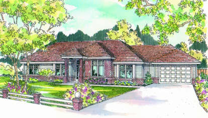 3 Bed, 2 Bath, 2592 Square Foot House Plan - #035-00038