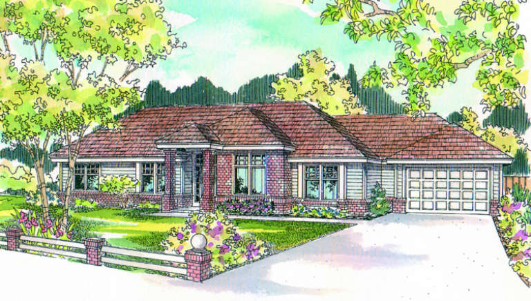 Traditional House Plan #035-00038 Elevation Photo