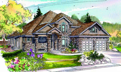 3 Bed, 2 Bath, 3353 Square Foot House Plan - #035-00040