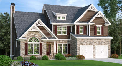4 Bed, 3 Bath, 2763 Square Foot House Plan - #009-00052