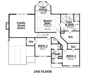 Second Floor for House Plan #009-00052