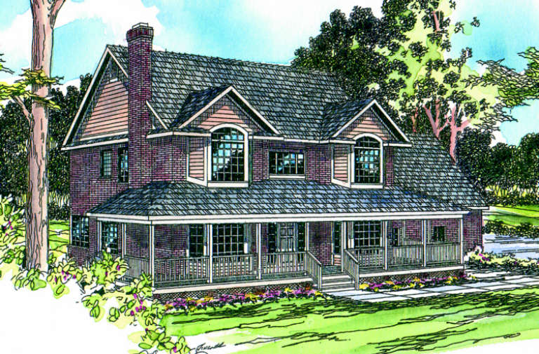 Country House Plan #035-00044 Elevation Photo