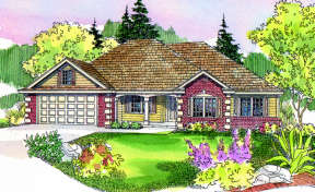 Traditional House Plan #035-00046 Elevation Photo