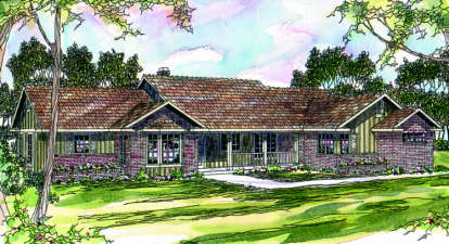 4 Bed, 3 Bath, 2339 Square Foot House Plan - #035-00050