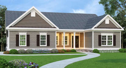 3 Bed, 2 Bath, 1960 Square Foot House Plan - #009-00053