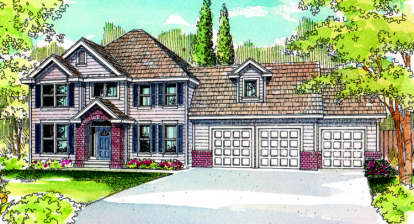 4 Bed, 2 Bath, 2803 Square Foot House Plan - #035-00051
