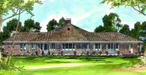 Contemporary House Plan #035-00053 Elevation Photo