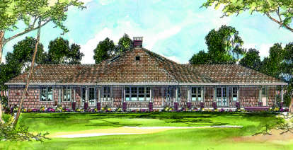 4 Bed, 3 Bath, 2568 Square Foot House Plan - #035-00053