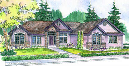 3 Bed, 3 Bath, 2713 Square Foot House Plan - #035-00055