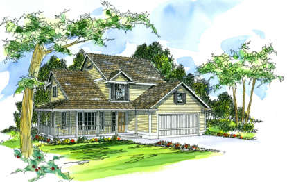 4 Bed, 2 Bath, 1972 Square Foot House Plan - #035-00056