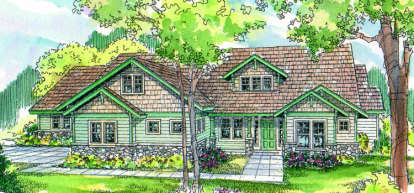 4 Bed, 2 Bath, 3436 Square Foot House Plan - #035-00058