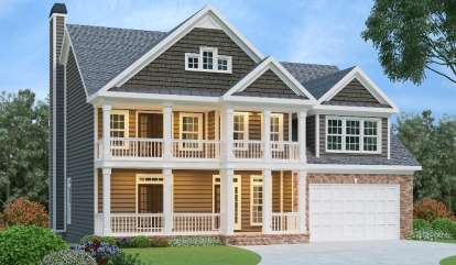 4 Bed, 4 Bath, 2739 Square Foot House Plan - #009-00054