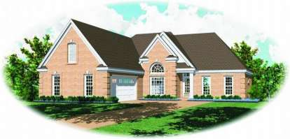 3 Bed, 2 Bath, 2000 Square Foot House Plan - #053-00495