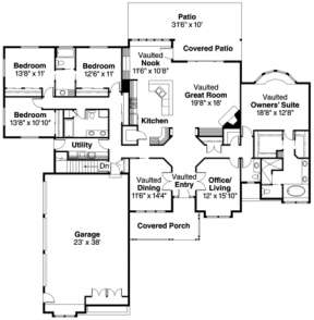 Floorplan for House Plan #035-00065