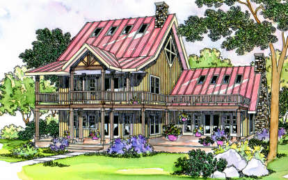 3 Bed, 2 Bath, 2030 Square Foot House Plan - #035-00066