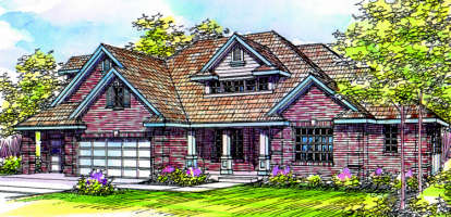 4 Bed, 3 Bath, 2485 Square Foot House Plan - #035-00067