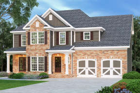 Traditional House Plan #009-00055 Elevation Photo