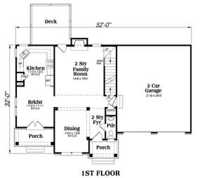 Main Floor for House Plan #009-00055