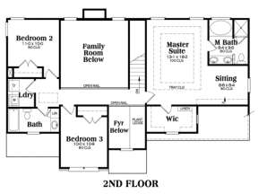 Second Floor for House Plan #009-00055