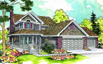 4 Bed, 3 Bath, 2550 Square Foot House Plan - #035-00071