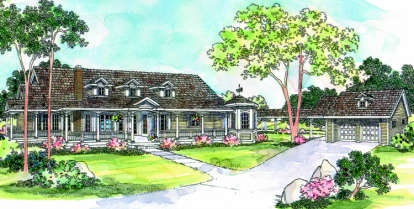 3 Bed, 2 Bath, 2966 Square Foot House Plan - #035-00072