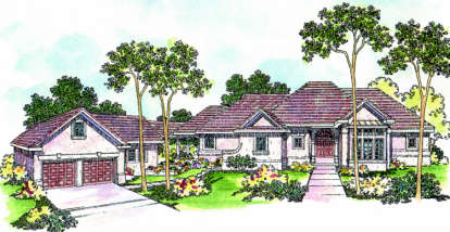 3 Bed, 2 Bath, 2276 Square Foot House Plan - #035-00073