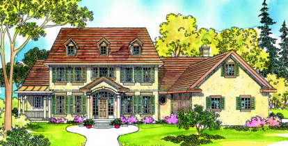 5 Bed, 4 Bath, 4076 Square Foot House Plan - #035-00074