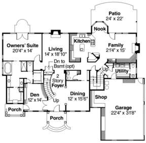First Floor for House Plan #035-00074