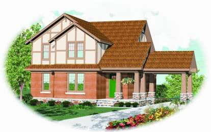 4 Bed, 2 Bath, 2465 Square Foot House Plan - #053-00615