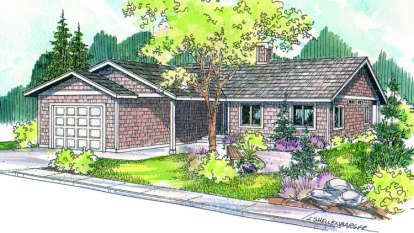 3 Bed, 2 Bath, 1453 Square Foot House Plan - #035-00076