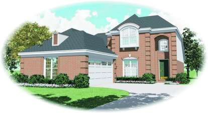 4 Bed, 3 Bath, 2441 Square Foot House Plan - #053-00663