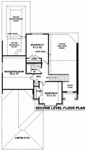 Floorplan 2 for House Plan #053-00663