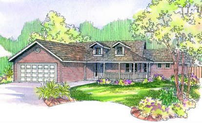 3 Bed, 2 Bath, 1668 Square Foot House Plan - #035-00079