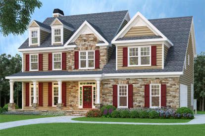4 Bed, 4 Bath, 2752 Square Foot House Plan - #009-00056