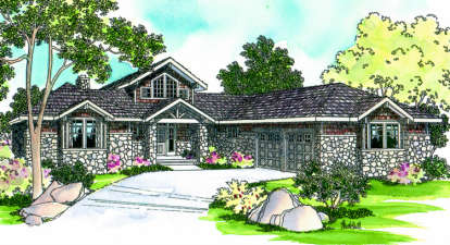 3 Bed, 2 Bath, 2556 Square Foot House Plan - #035-00083