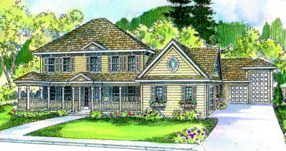 4 Bed, 2 Bath, 3886 Square Foot House Plan - #035-00084