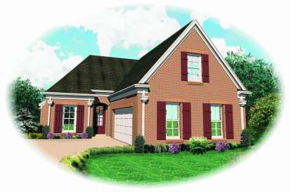 3 Bed, 2 Bath, 2477 Square Foot House Plan - #053-00741