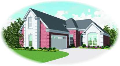2 Bed, 2 Bath, 1764 Square Foot House Plan - #053-00768