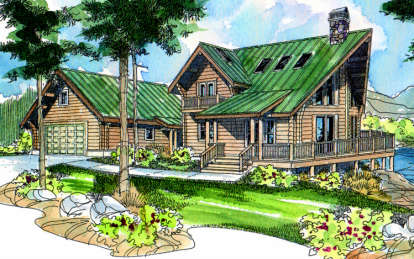 3 Bed, 2 Bath, 1744 Square Foot House Plan - #035-00088
