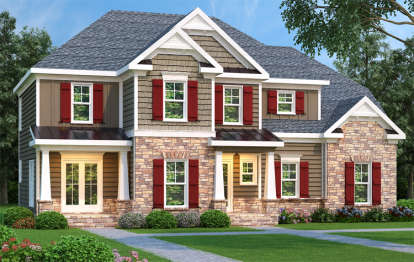 3 Bed, 2 Bath, 1819 Square Foot House Plan - #009-00057