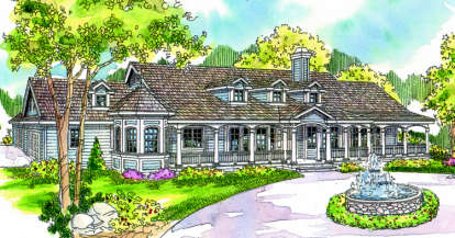 4 Bed, 5 Bath, 3959 Square Foot House Plan - #035-00091