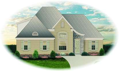 3 Bed, 2 Bath, 2088 Square Foot House Plan - #053-00802