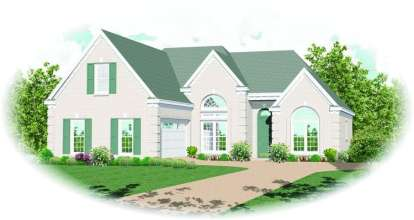 2 Bed, 2 Bath, 1742 Square Foot House Plan - #053-00808