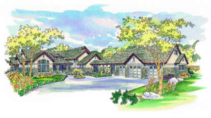 3 Bed, 3 Bath, 4104 Square Foot House Plan - #035-00093